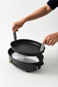 Oval Hotplate in Black
