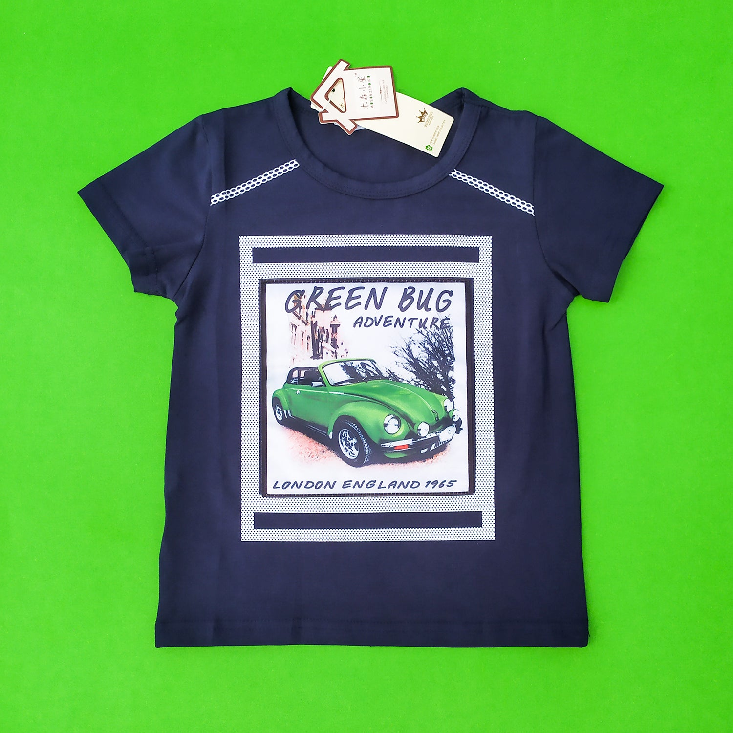 Green Bug Navy Imported Tee