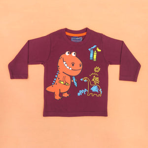 Dino Full-Sleeves Newborn Tee