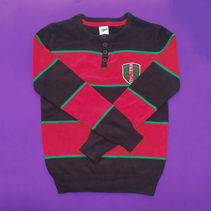 Oshkosh Red & Black Imported Sweater