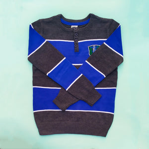 Oshkosh Royal & Charcoal Imported Sweater