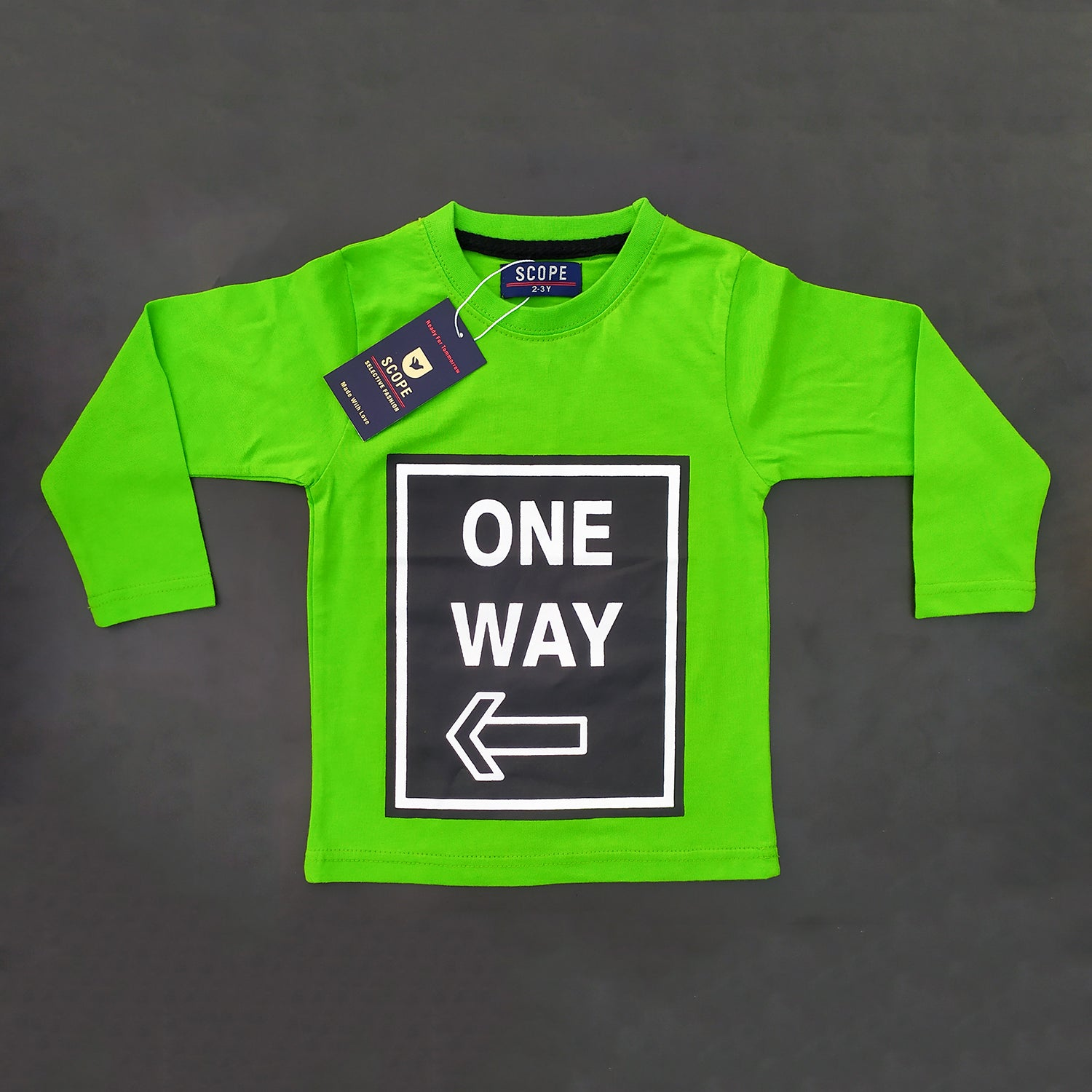 One Way Full-Sleeves Tee