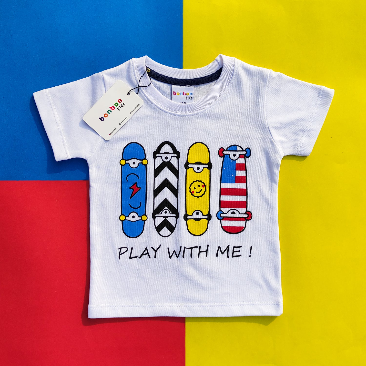 Play With Me White Tee
