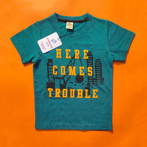 Here Comes Trouble Turquoise Tee