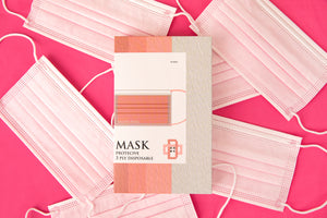 MYLU Disposable Face Mask 10 pcs - Pink