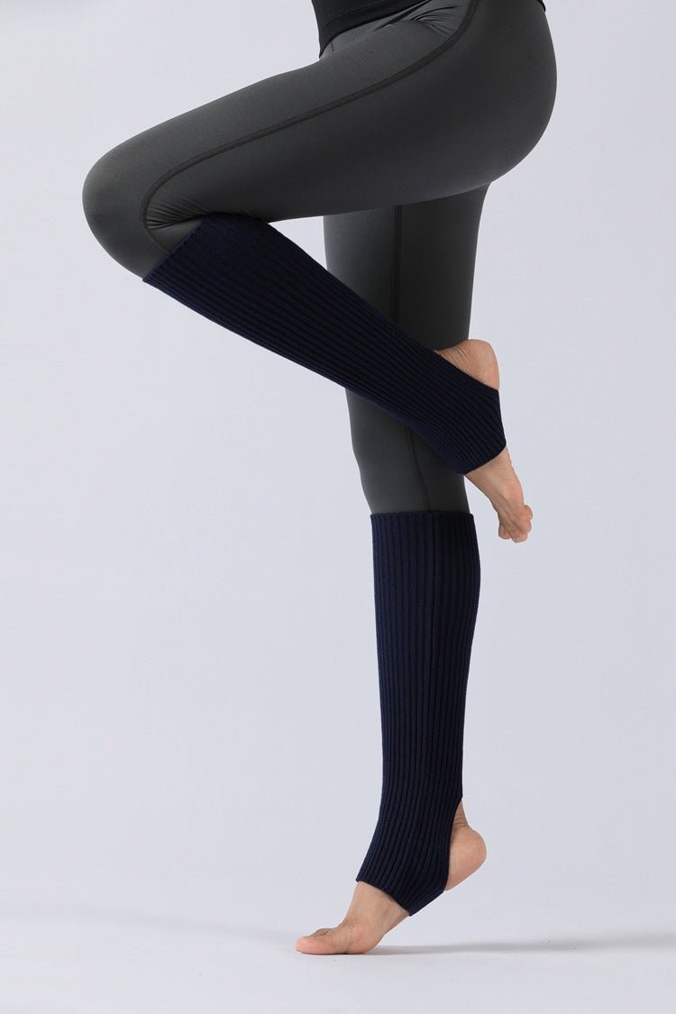 Under-The-Knee Ribbed Leg Warmers