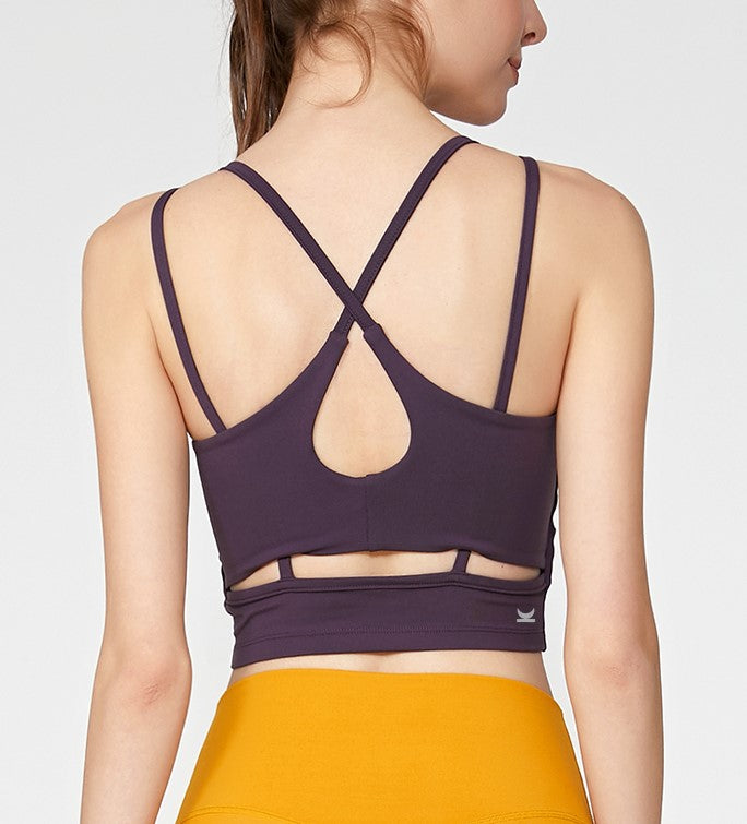 Maia Cut Out Back Bra-Top