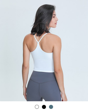 Open image in slideshow, Lila Y Back Tank Bra Top