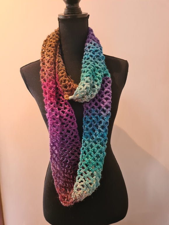 Diamond Mesh Stitch Cowl Kit