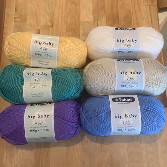 Patons Big Baby 4 ply
