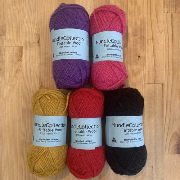 Nundle Collection 8 Ply Feltable Yarn