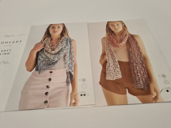 Katia Concept Soft Lino Shawl or Scarf Kit