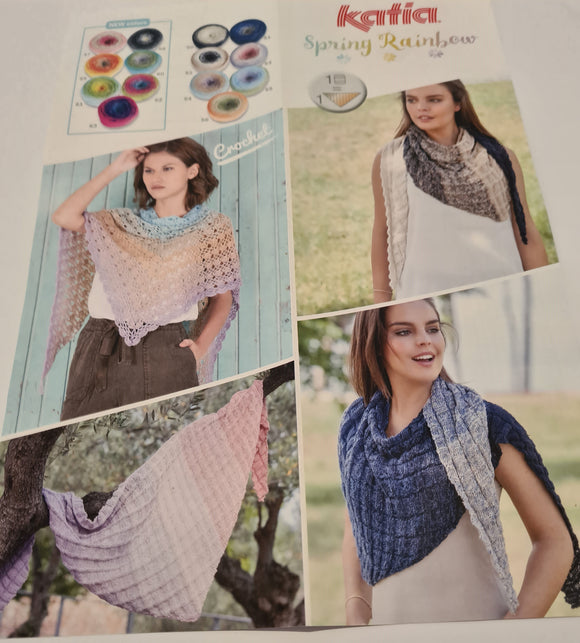 Katia Spring Rainbow Shawl Kit
