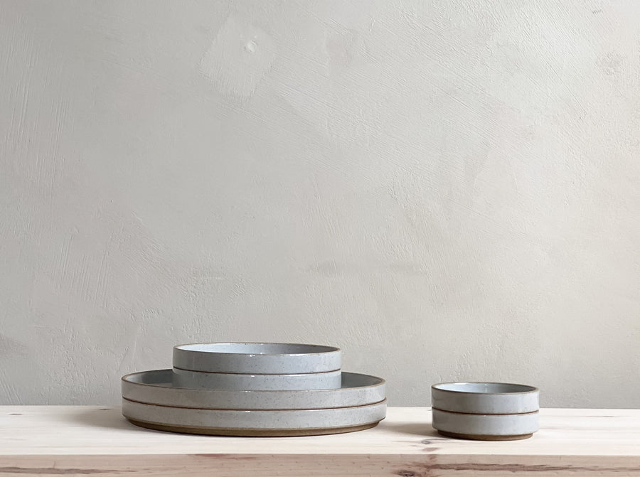 Hasami Porcelain Clear Grey Plate