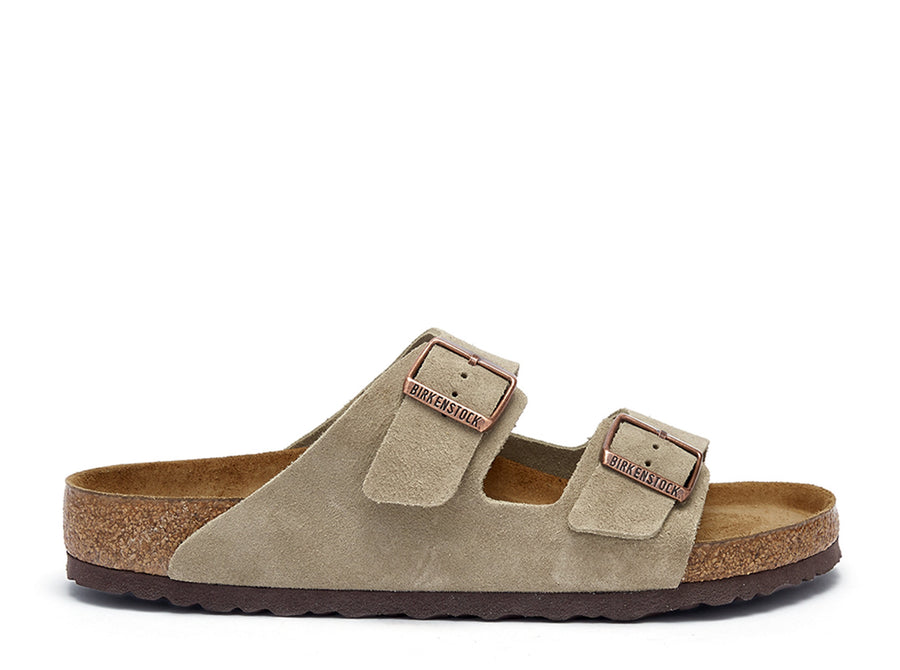 Arizona Taupe Suede Sandals