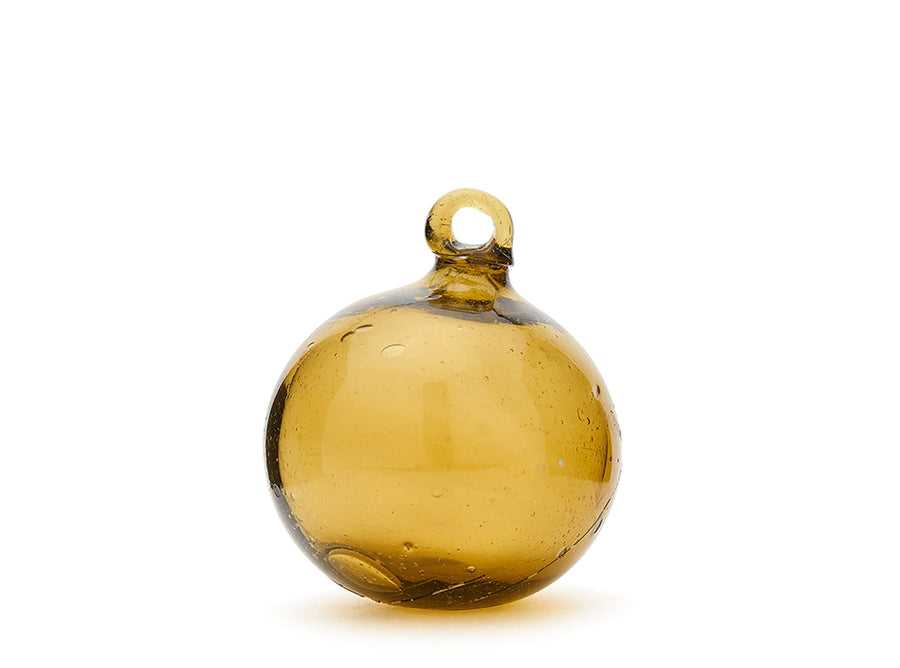 Amber Glass Bauble