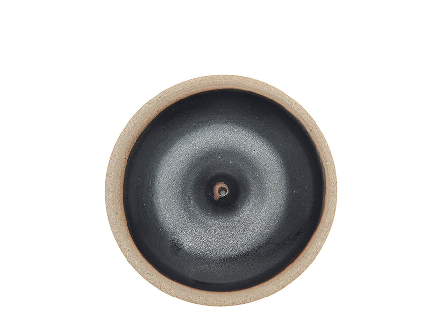 Woodfired Black Incense Plate
