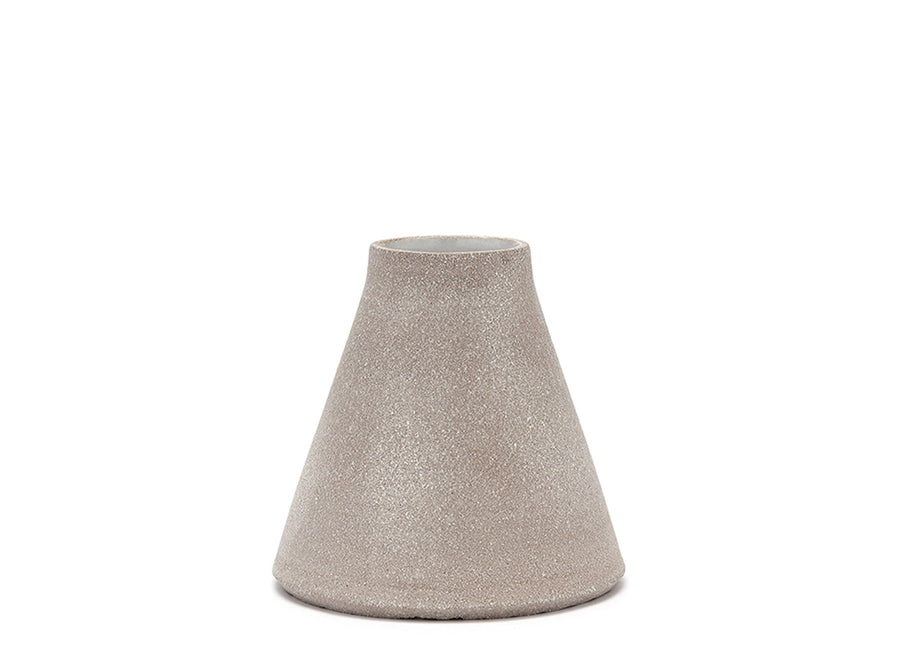 Textured Grey Bud Vase