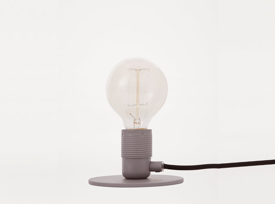 E27 Grey Table Lamp
