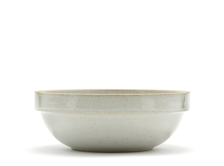 Hasami Porcelain Clear Grey Round Bowl