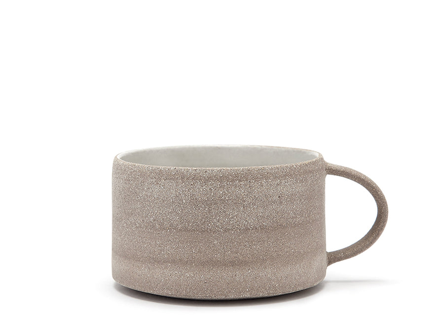 Textured Grey Low Mug