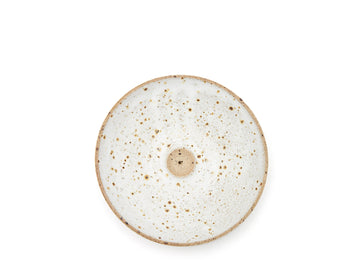 White Speckle Incense Holder