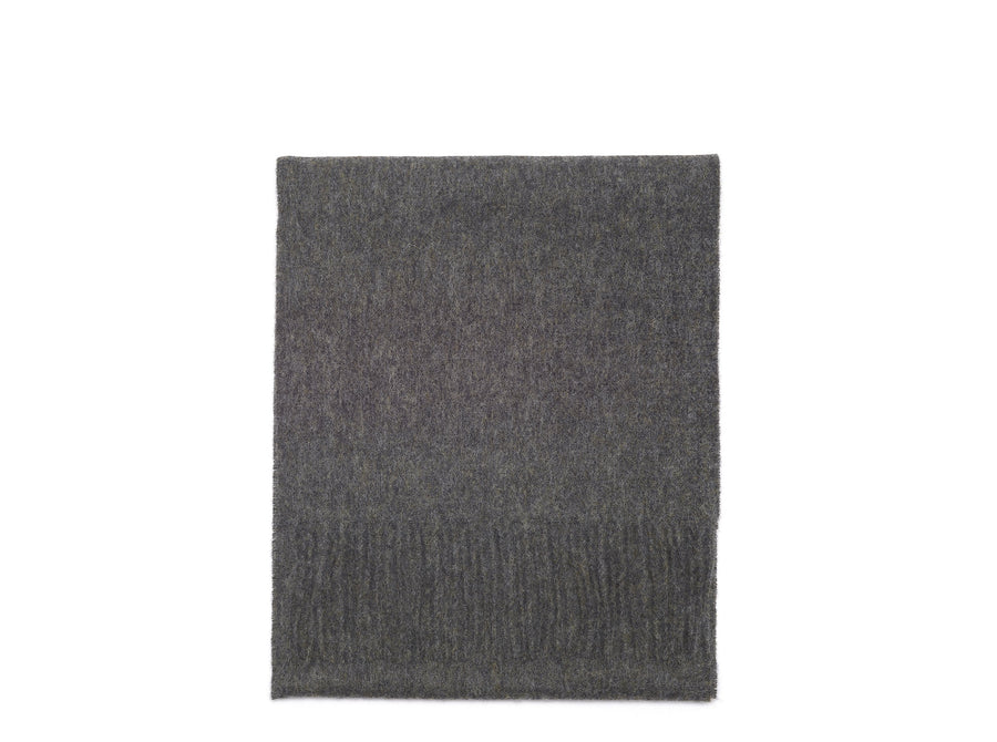 Dark Grey Merino Lambswool Scarf