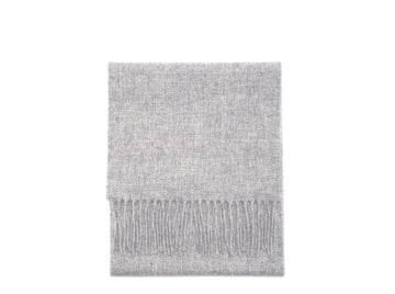 Light Grey Merino Lambswool Scarf