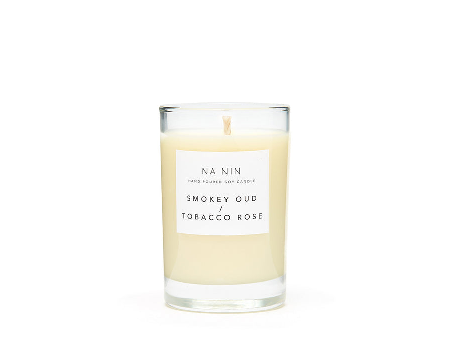 Smokey Oud + Tobacco Rose Candle