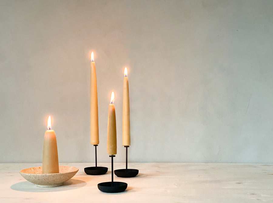 Beeswax Dinner Candle Pair