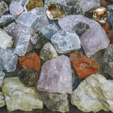 You can collect rocks or buy them online for your backyard bucket gem mining activity.