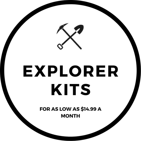 Excavating Adventures Explorer Kits Monthly Subscriptions
