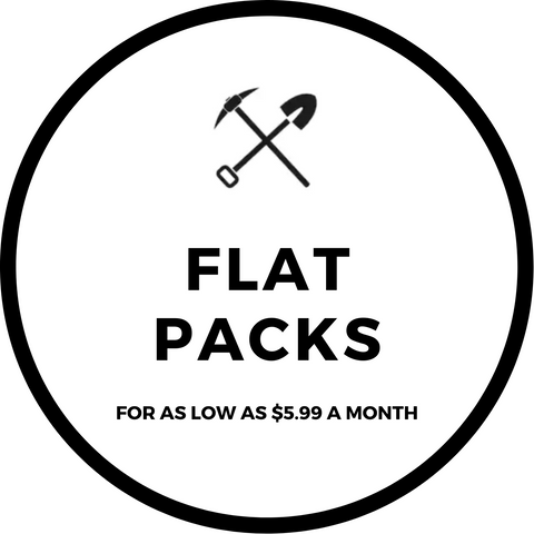 Excavating Adventures Flat Packs Monthly Subscriptions
