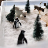 Add fun little winter animals to you snow day dig excavation.