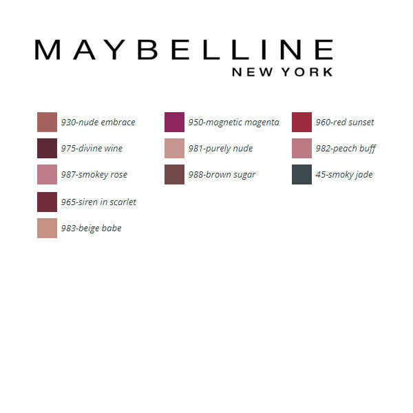 Lipstick Color Sensational Mattes Maybelline