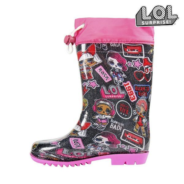 Children's Water Boots LOL Surprise! Pink Black
