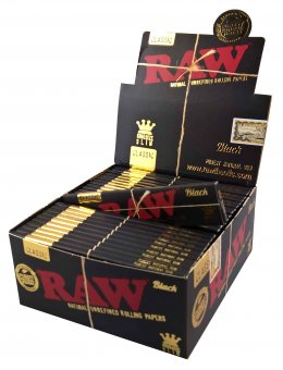 RAW BLACK Slim Papers 5er Pack