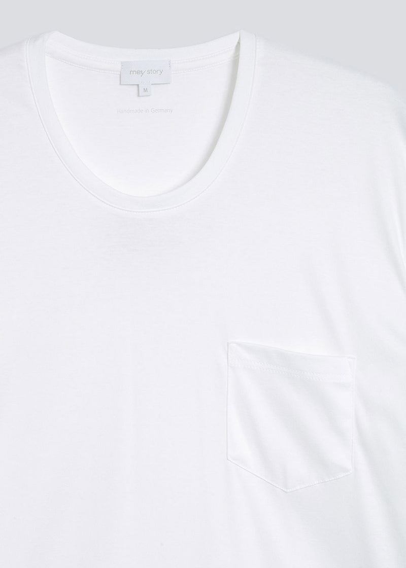 Mey Story T-shirt Round neck whit breast pocket white