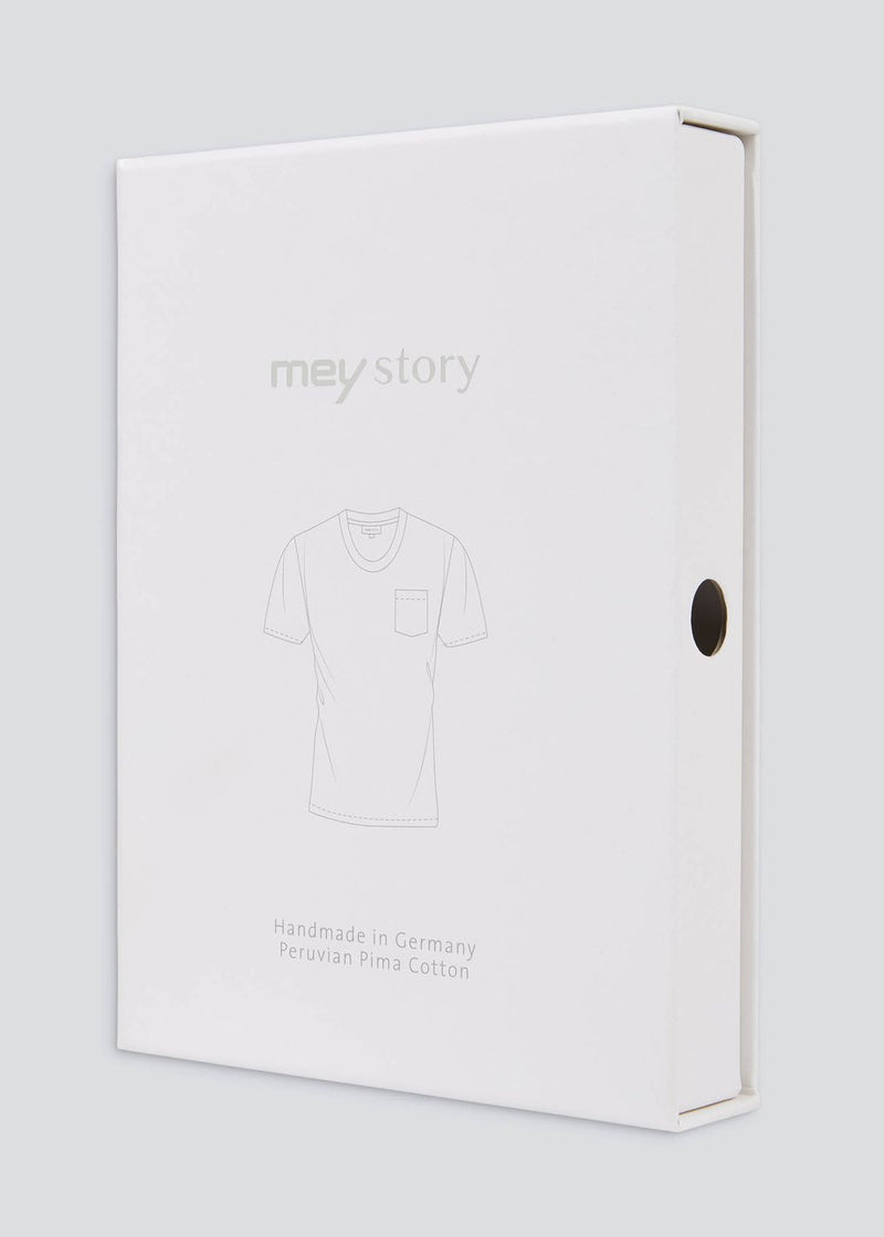 Mey Story T-shirt Round neck with breast pocket navy