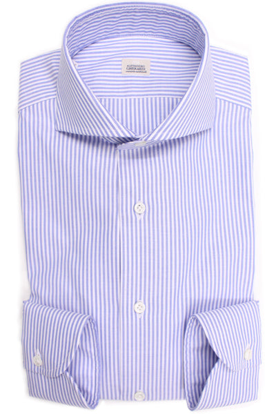 Oxford Striped Shirt - White & Blue