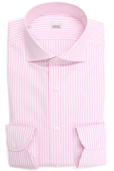 Alessandro Gherardi Poplin Striped Shirt - White, Pink & Blue