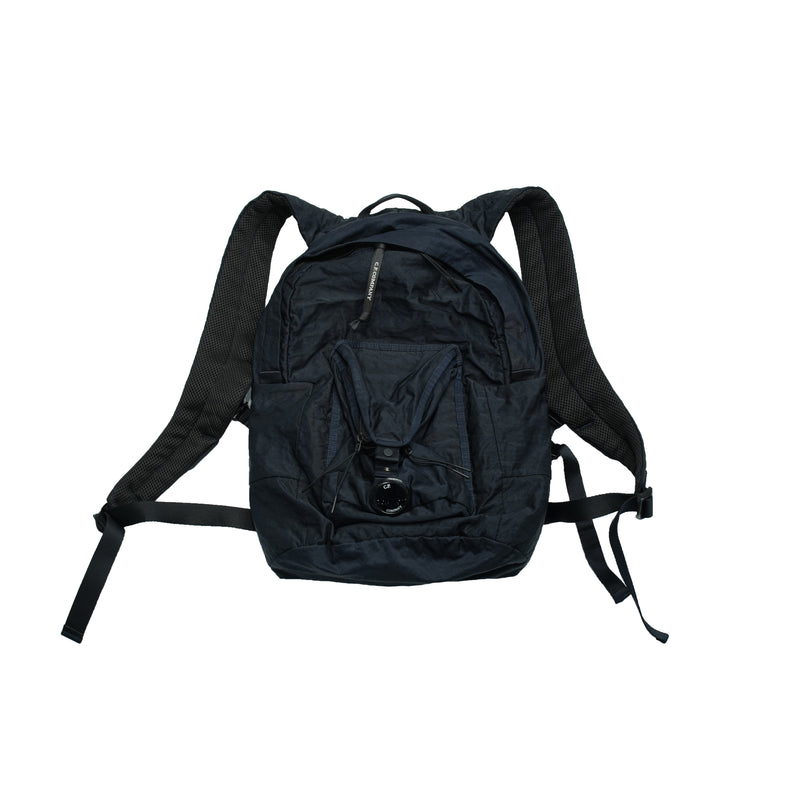 C.P. Company Garment Dyed Nylon Sateen Backpack / Blue