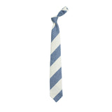 Drake´s Block Stripe Tie / Mid Blue