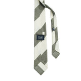 Drake´s Block Stripe Tie / Green