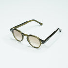 Olive Keyhole Bridge Panto Sunglasses