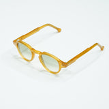 Milky Amber Keyhole Bridge Panto Sunglasses / Honey
