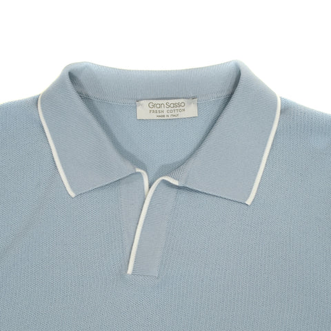 Gran Sasso Capri collar Polo Shirt / Light Blue