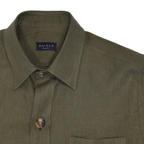 Gaiola Napoli  Short sleeved Sahariana jacket / Green