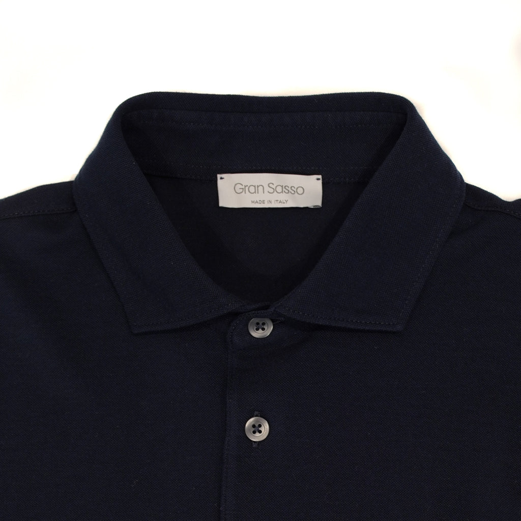 Gran Sasso Polo shirt made of fine jersey cotton. Soft semi cutaway collar,  fly with 3 buttons, slim fit, snug sleeves... No explanation needed. One of the summer essentials.  100% cotton Model: Polo Article: 60103/81402 Color: 598 Maglificio Gran Sasso