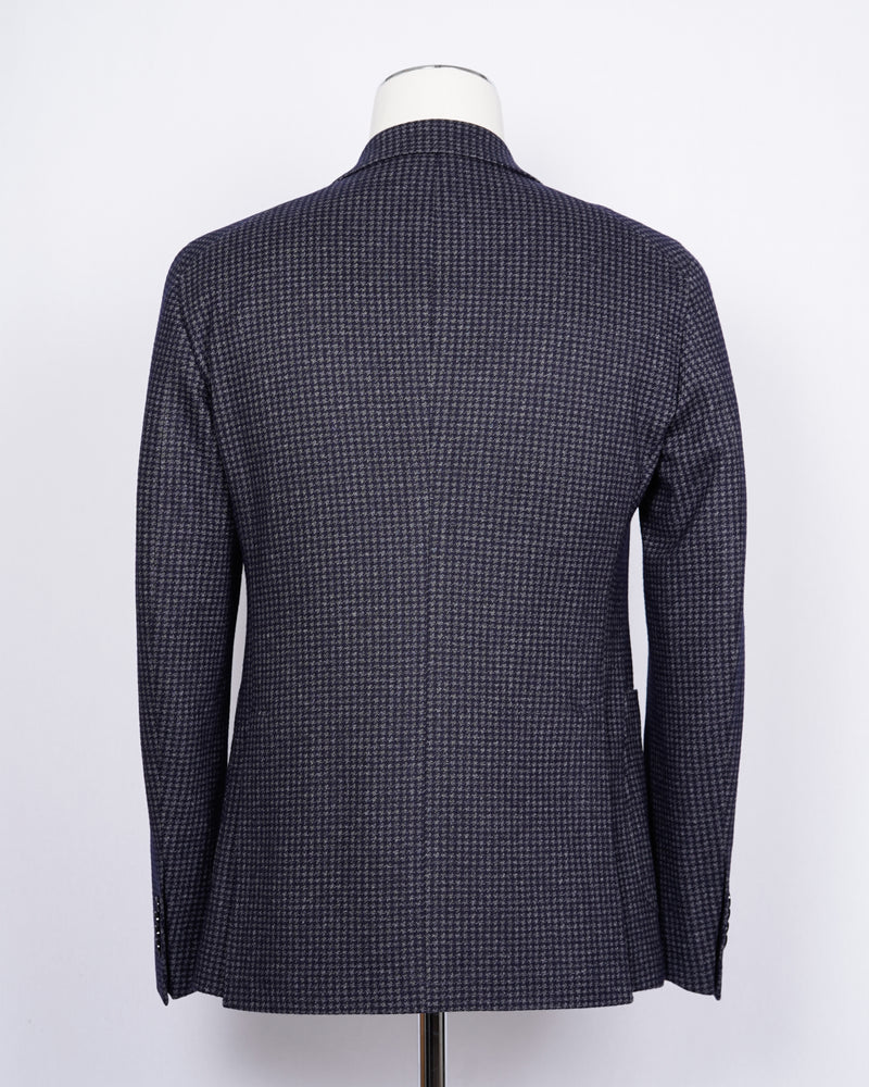 TAGLIATORE Jersey Jacket Wool & Cotton / Blue
